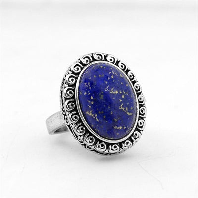 Ring - Vintage Style Oval Lapis Lazuli Ring