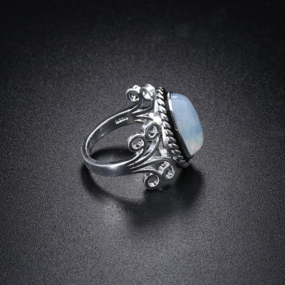 Tibetan Inspired Moonstone Ring