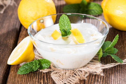 yogurt and lemon juice ingredients for lip mask