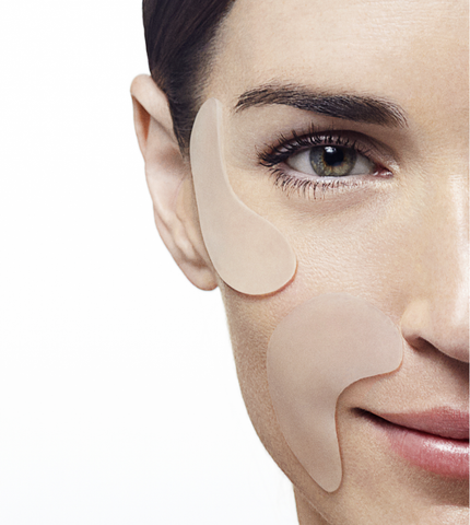 SiO smoothing patches to treat and prevent smile lines
