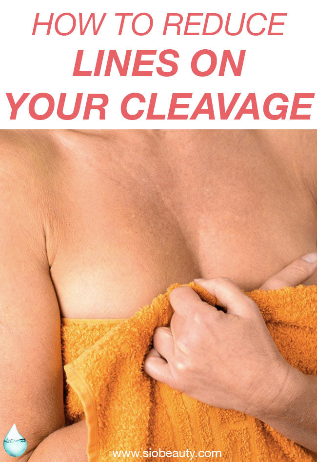 Chest wrinkles remedies - Cleavage lines are wrinkles that form when collagen and elastin below the skin begin to break down. This breakdown occurs because of age, sun exposure, and the repeated wrinkling caused by sleeping on your side.  But there are steps you can take to get rid of cleavage lines, prevent new wrinkles from forming, and help smooth out the ones that already exist. #siobeauty #beautytips #skincare  #skincareproducts #antiaging