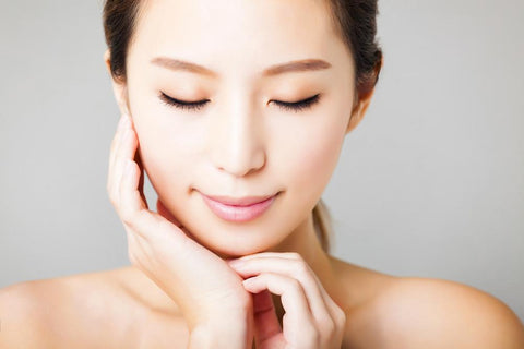 woman with gorgeous skin as a result of Japanese skin care