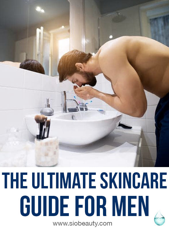 Skincare routine for men - A daily grooming routine helps to maintain your personal hygiene and is also important for keeping you looking and feeling young, attractive, and clean. Click here to find the Ultimate skincare guide for men. #siobeauty #grooming #skincare #skincareformen #skincareproducts
