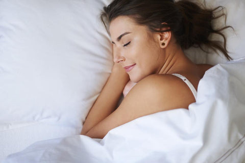 Young woman sleeping for wrinkle treatment