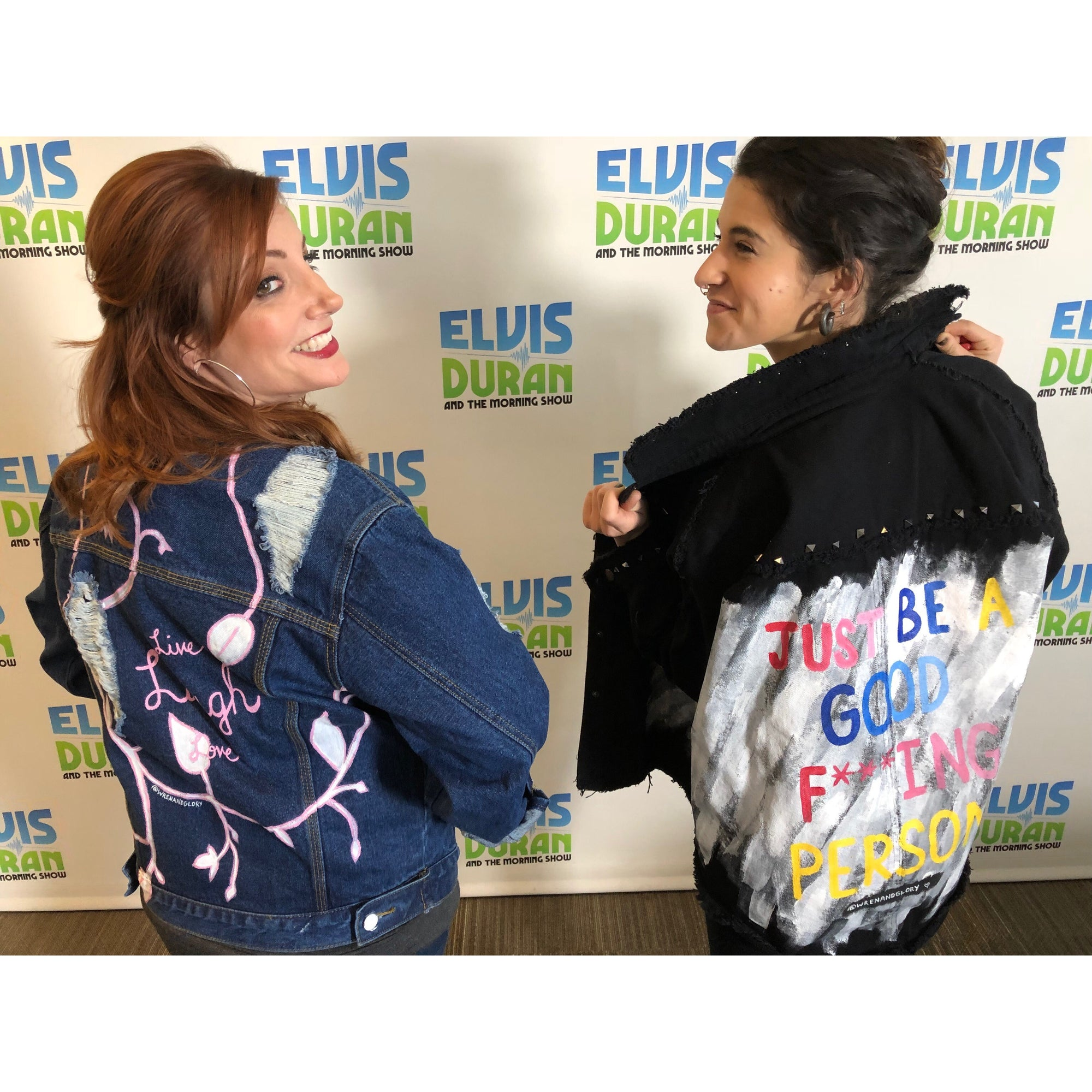 DANIELLE AND SAM FROM ZI00 WEAR DENIM JACKETS