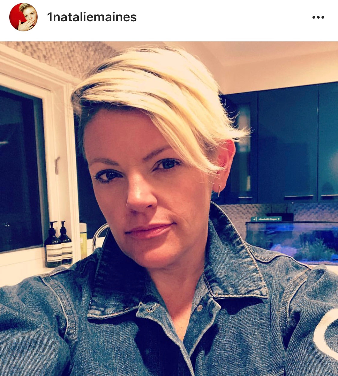 Natalie maines wears wren and glory denim jacket