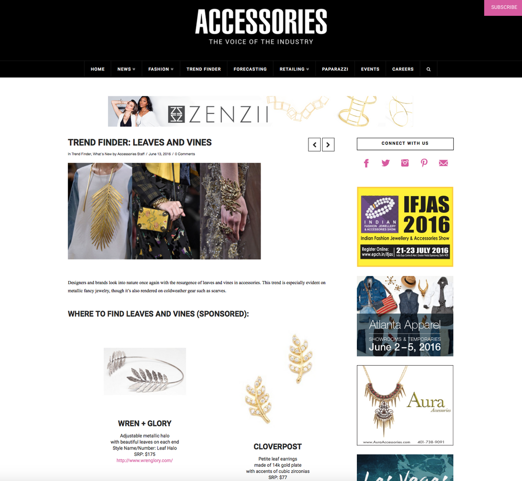 W+G FEATURED ON ACCESSORIESMAGAZINE.COM