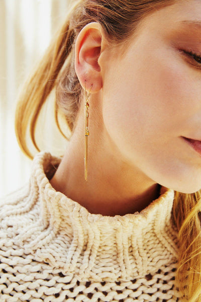 CHAIN TASSEL EARRINGS