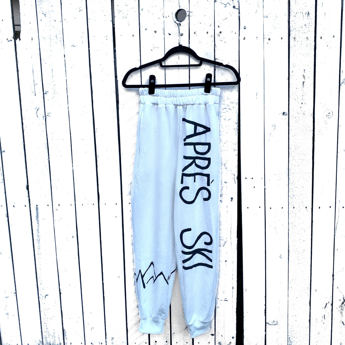 'AFTER SKI' PAINTED SWEATPANT