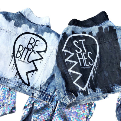 'BEST B*TCH' DENIM JACKET SET