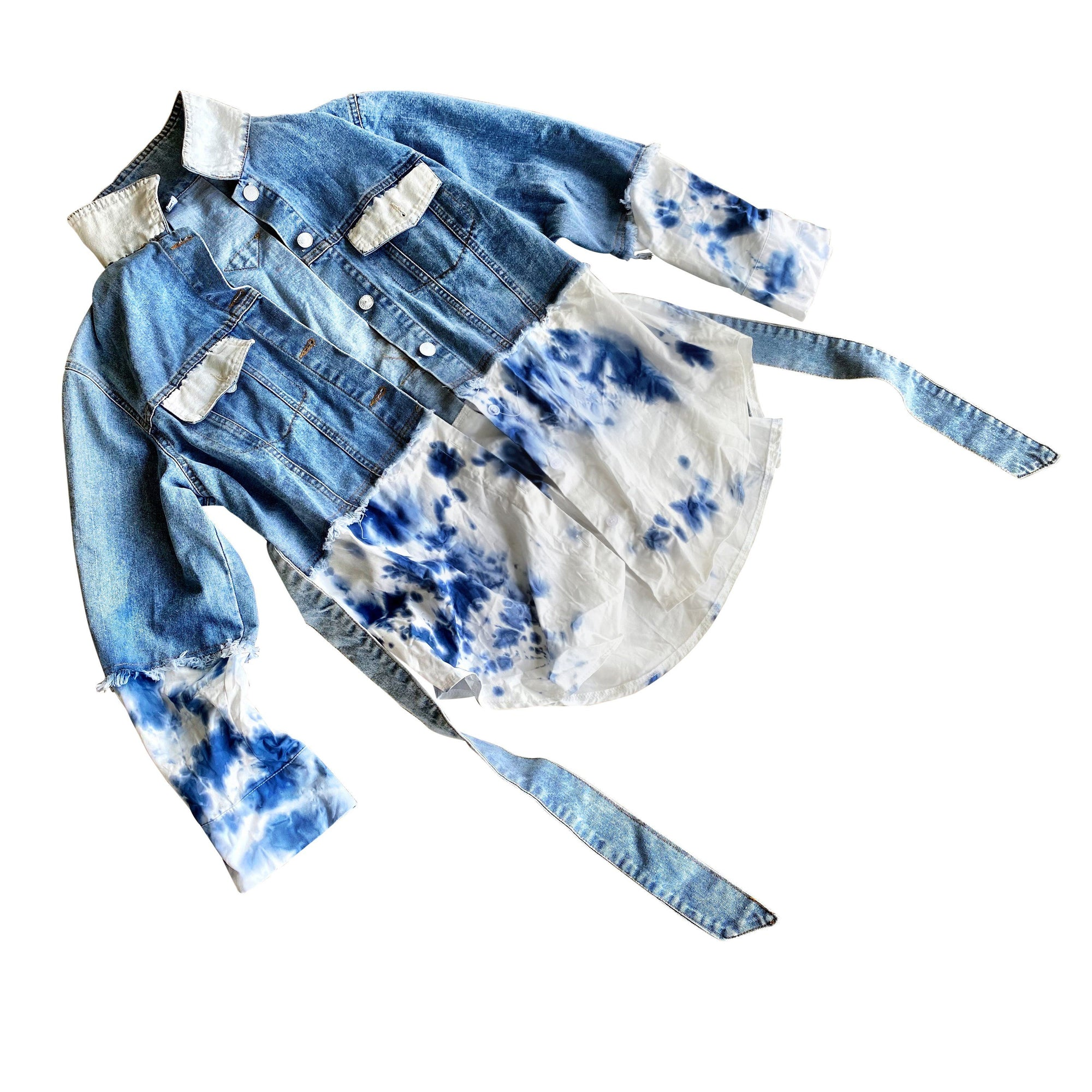 'BLUE SWIRLS' DENIM JACKET