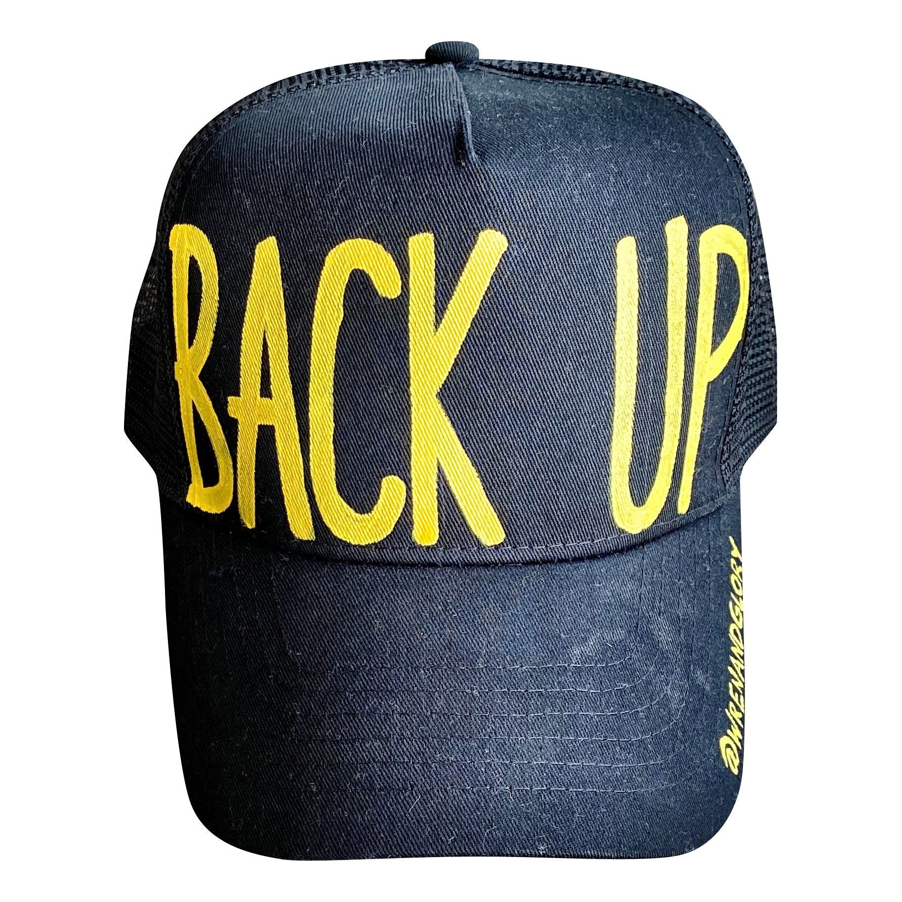 'BACK UP' PAINTED HAT