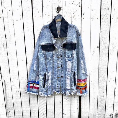 'BACKSTAGE PASS' DENIM JACKET