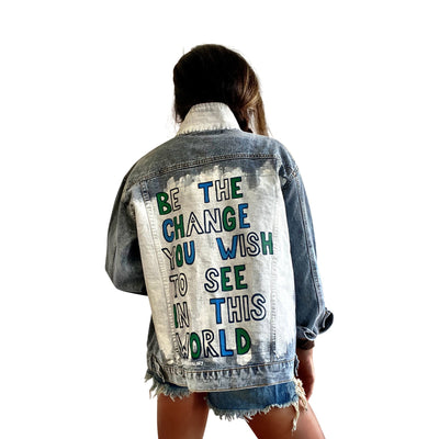 'BE THE CHANGE' DENIM JACKET