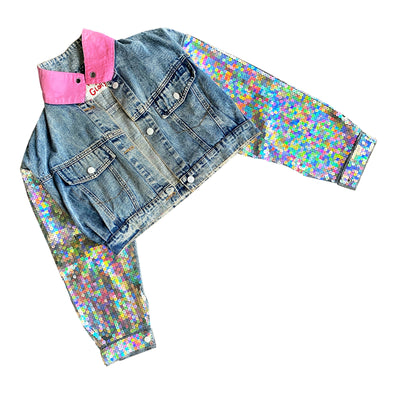 'BLUSHING CAMO' DENIM JACKET