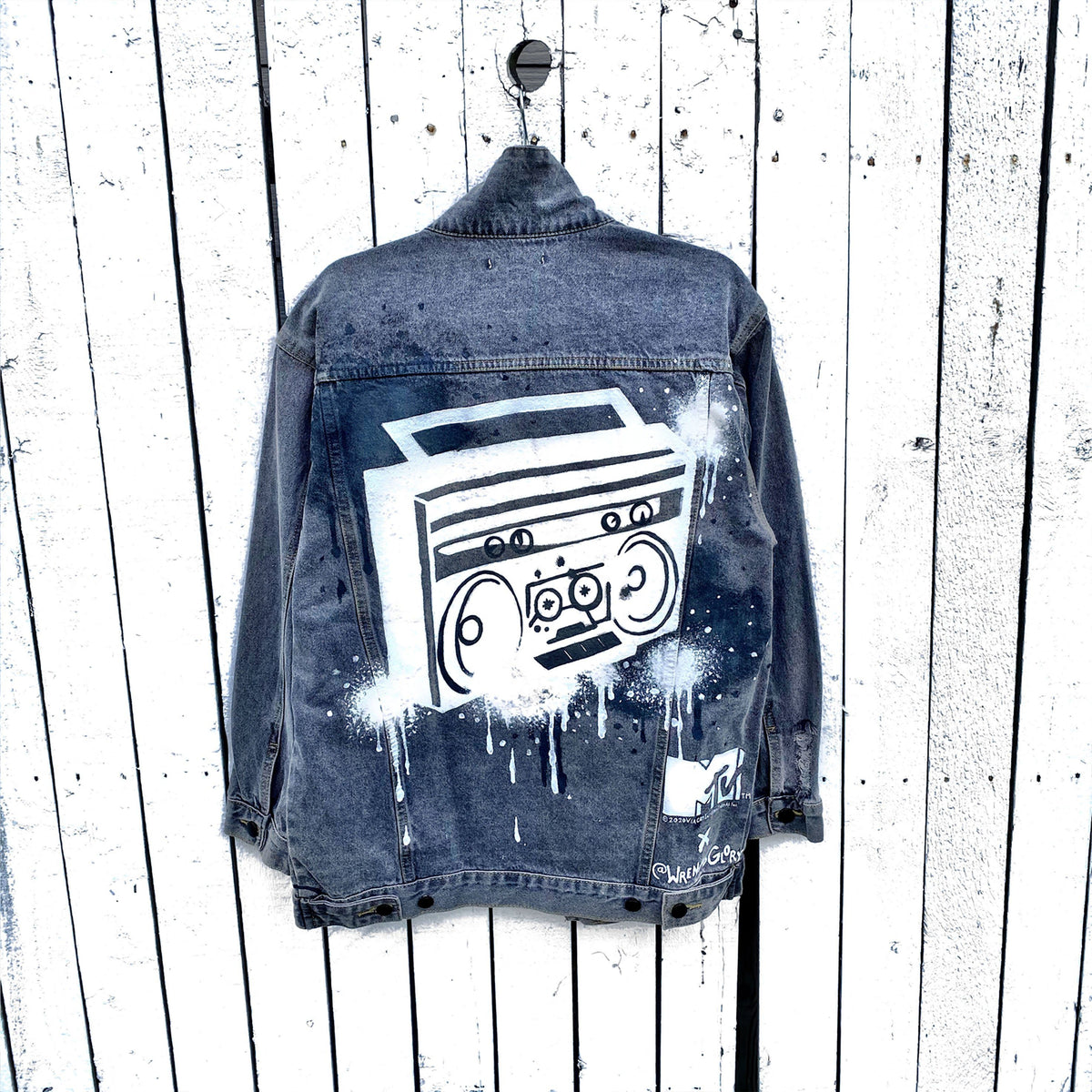 WG x MTV 'BOOMIN' DENIM JACKET