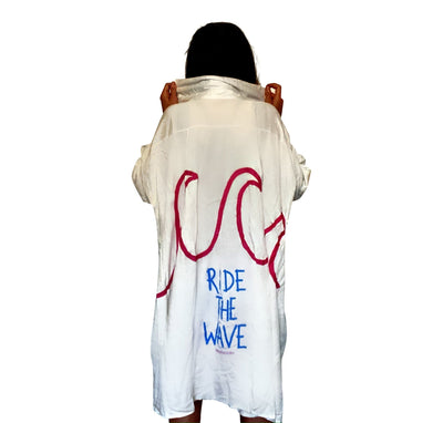 'CATCHING WAVES' PAINTED SHIRT