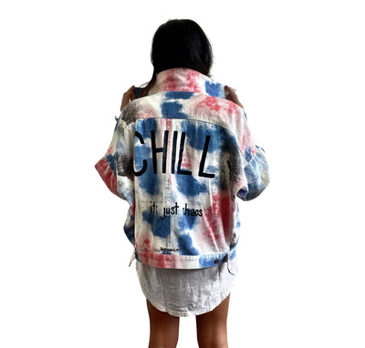 'CHAOS AND CHILL' DENIM JACKET