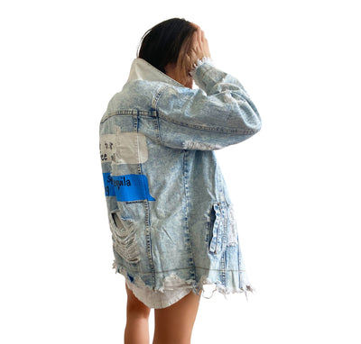 'COFFEE AND TEQUILA' DENIM JACKET