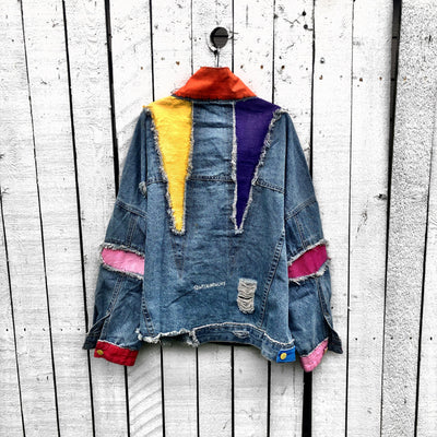 'COLOR BLOCKED' DENIM JACKET