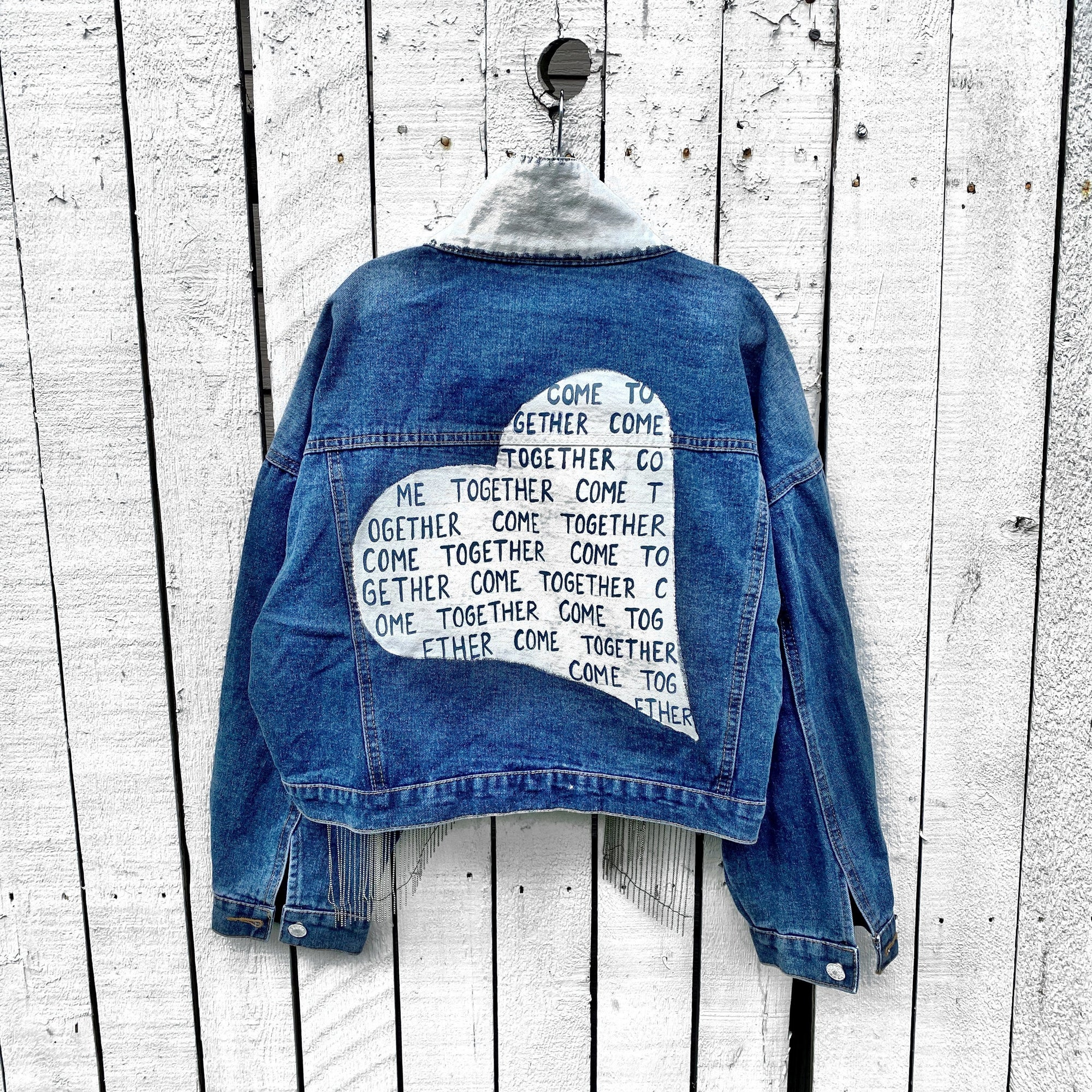'COME TOGETHER' DENIM JACKET
