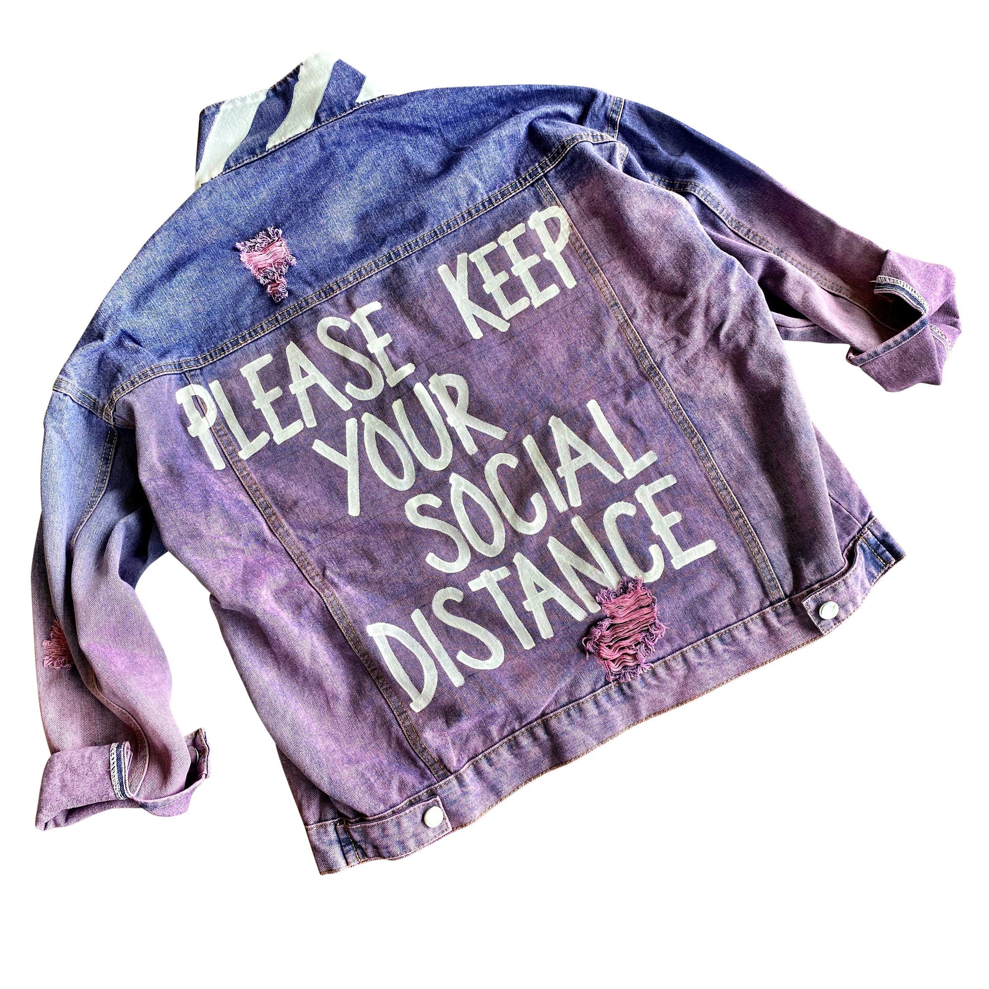 'DISTANCE PLEASE' DENIM JACKET