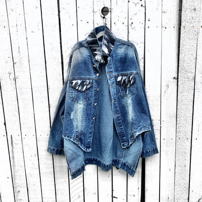 'DROPOUT' DENIM JACKET