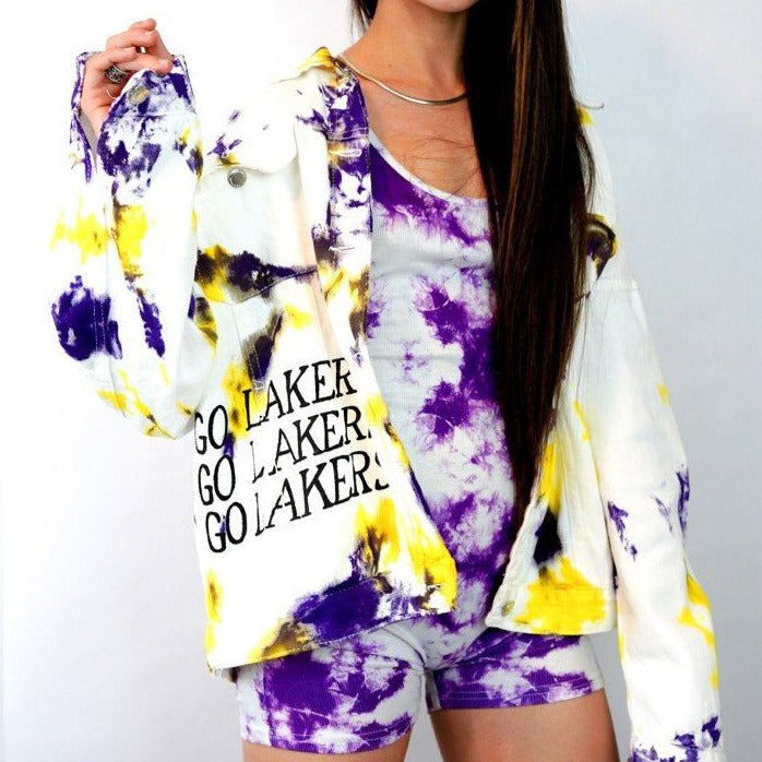 'GO LAKERS' DENIM JACKET - LAKERS