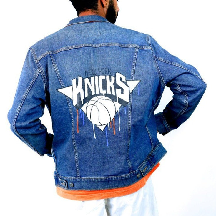 'GO KNICKS' DENIM JACKET - MEN