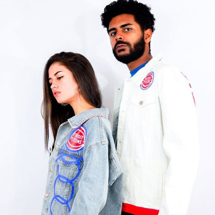 'GO PISTONS' DENIM JACKET - MEN