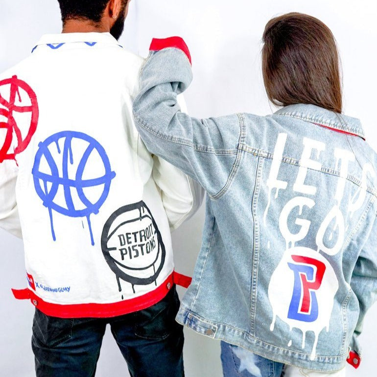 'GO PISTONS' DENIM JACKET - WOMEN