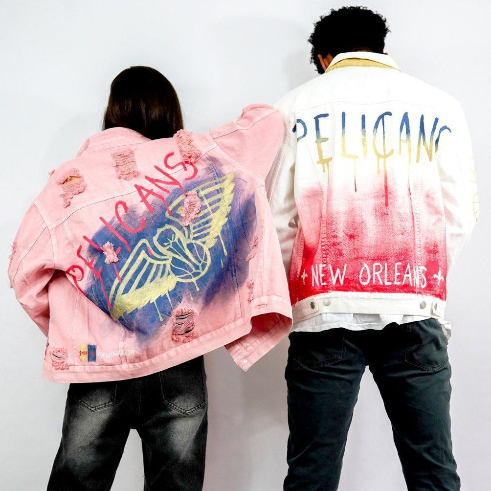 'GO PELICANS' DENIM JACKET - MEN