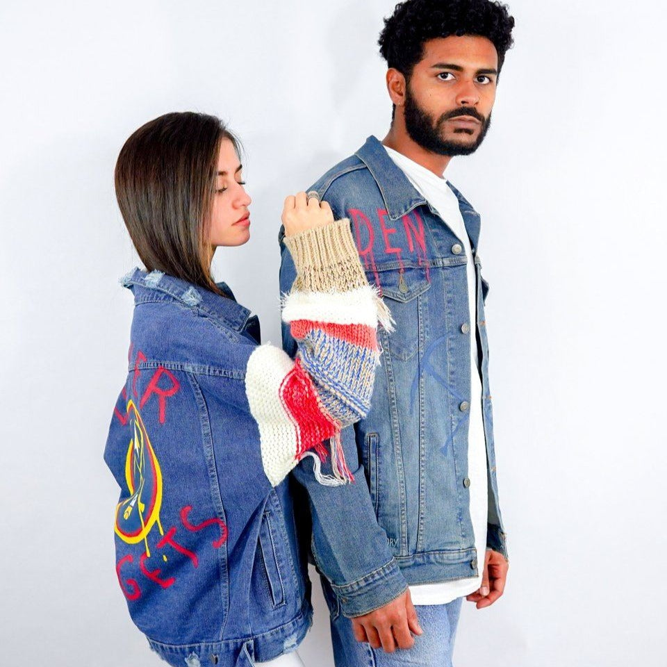 'GO NUGGETS' DENIM JACKET - WOMEN