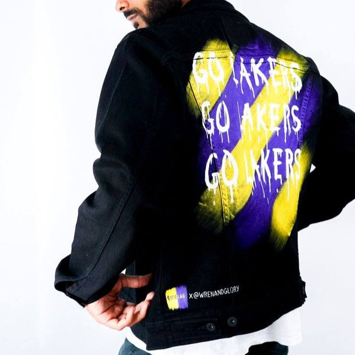 'GO LAKERS' DENIM JACKET - MEN