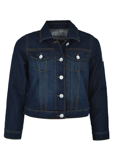 'THROWING APPLES' DENIM JACKET - GIRLS