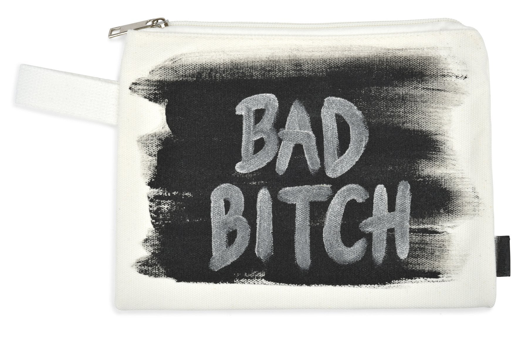 'BAD B*TCH' PAINTED POUCH