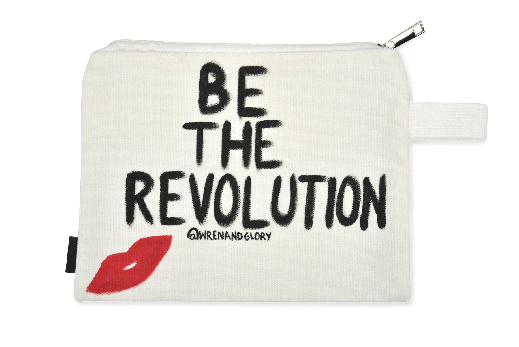 'WE ARE THE REVOLUTION' PAINTED POUCH