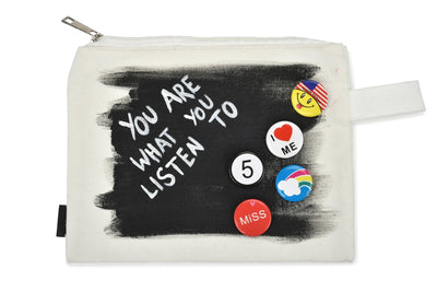 'WITH THE BAND' PAINTED POUCH