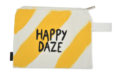 'HAPPY DAZE' PAINTED POUCH