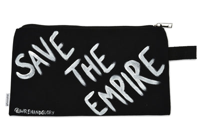 'DAMN THE MAN' PAINTED POUCH