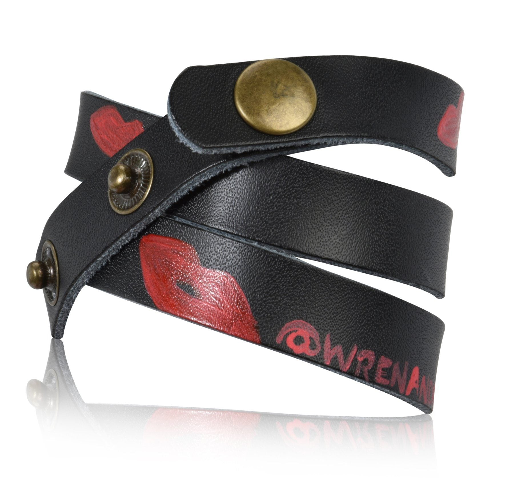 'WE ARE THE REVOLUTION' PAINTED LEATHER BRACELET