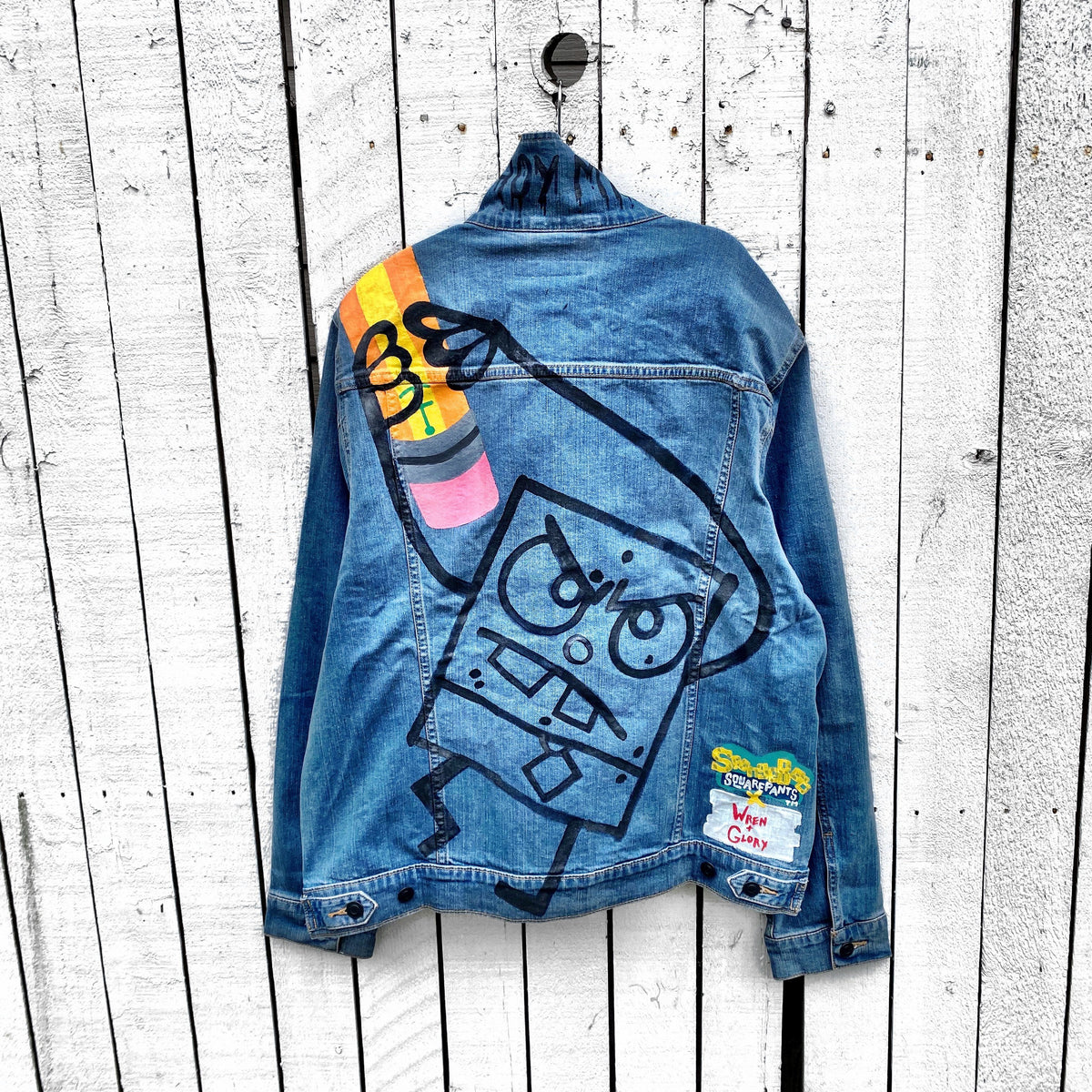 WG x SpongeBob SquarePants 'DoodleBob IS BACK' DENIM JACKET