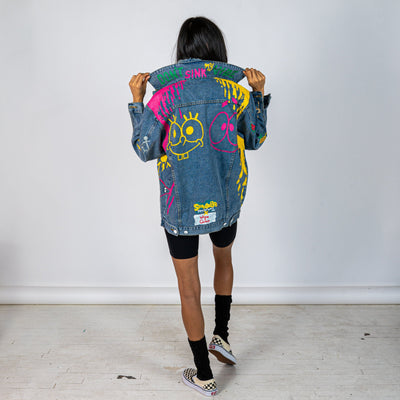 WG x SPONGEBOB 'BEST FRIENDS' DENIM JACKET