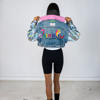 WG x SpongeBob SquarePants 'RAINBOW IS MY FAVORITE COLOR' DENIM JACKET