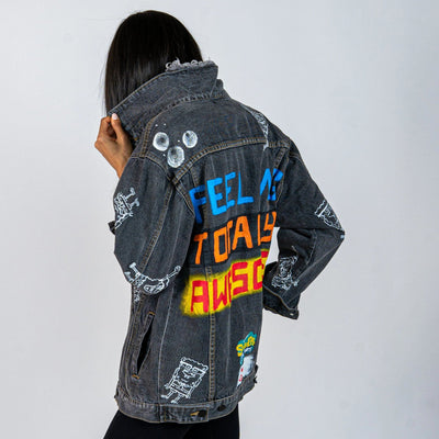 WG x SpongeBob SquarePants 'TOTALLY AWESOME' DENIM JACKET