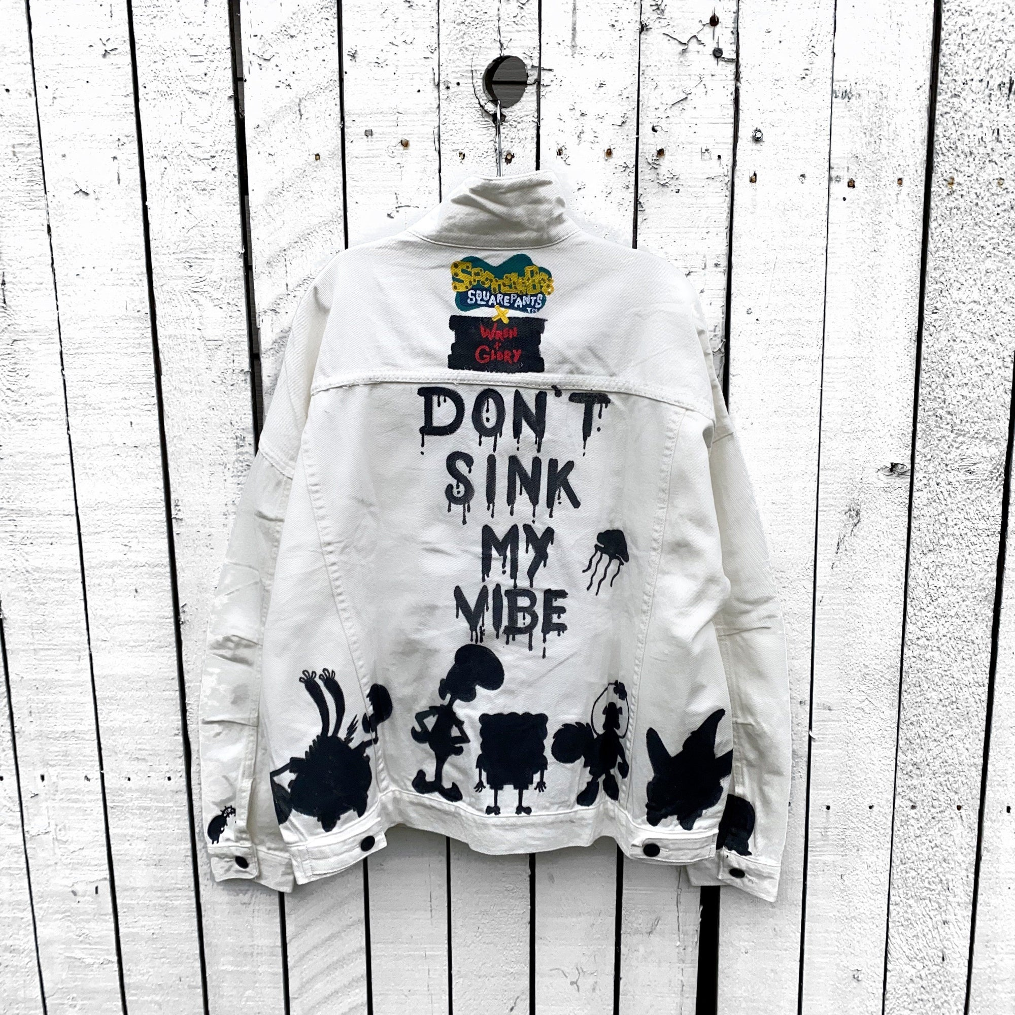 WG x SpongeBob SquarePants 'DONT SINK MY VIBE' DENIM JACKET