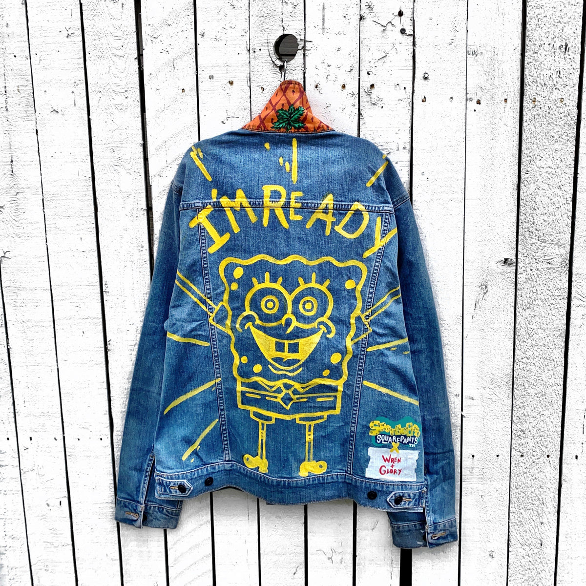 WG x SpongeBob SquarePants 'IM READY' DENIM JACKET