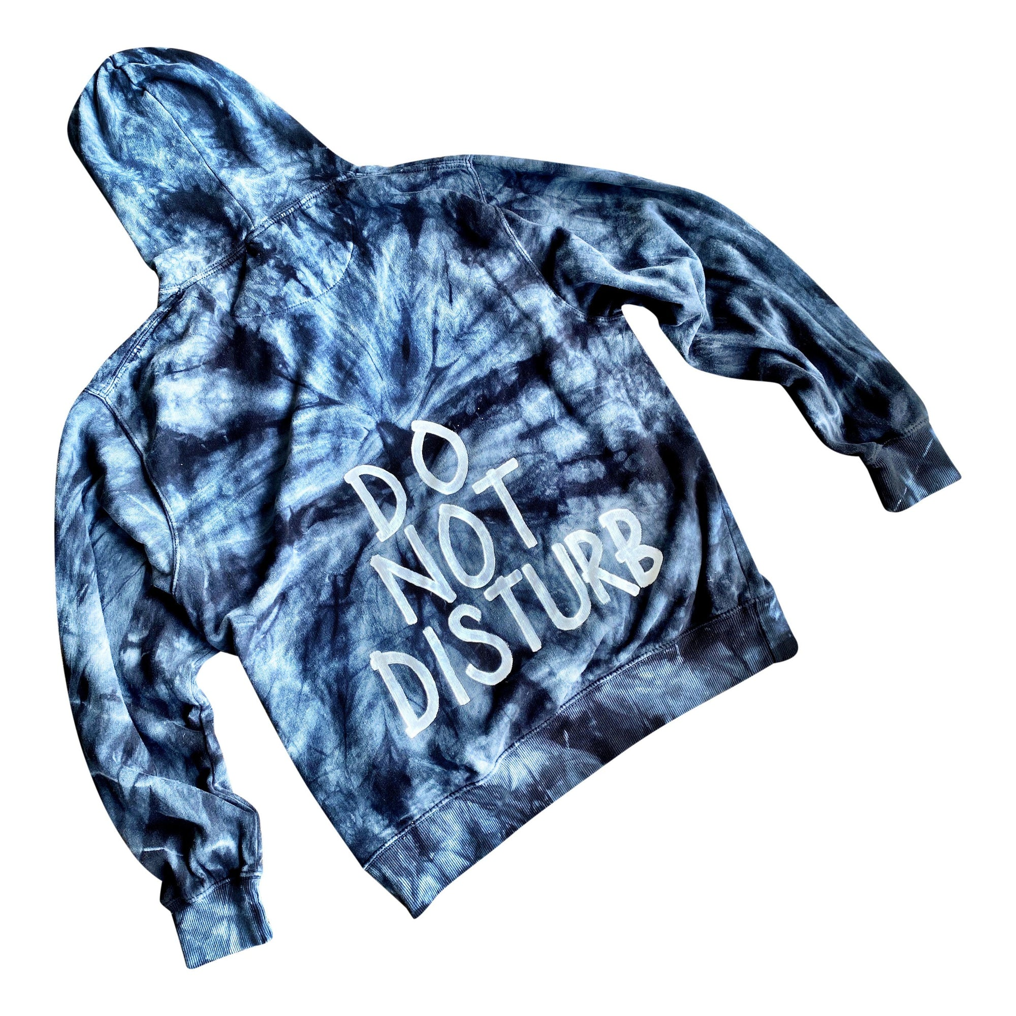 'DO NOT DISTURB' PAINTED HOODIE