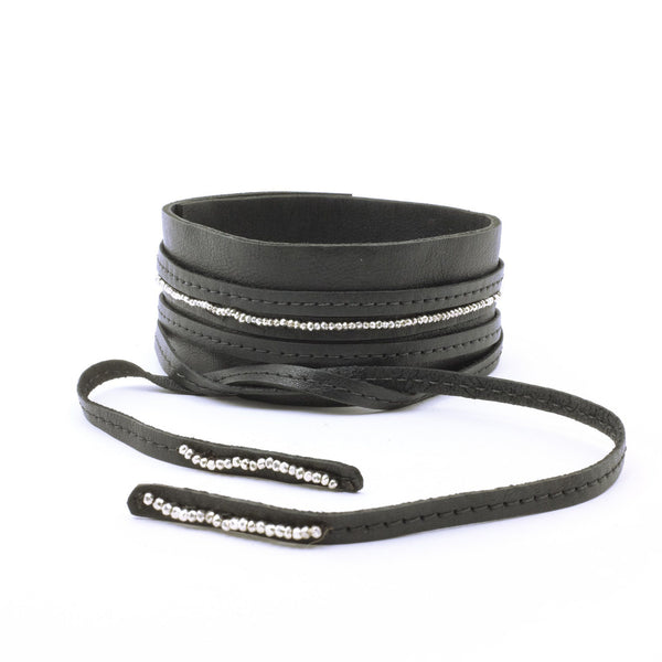 WIDE LEATHER CHOKER