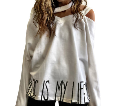 'MUSIC + LIFE' SWEATSHIRT